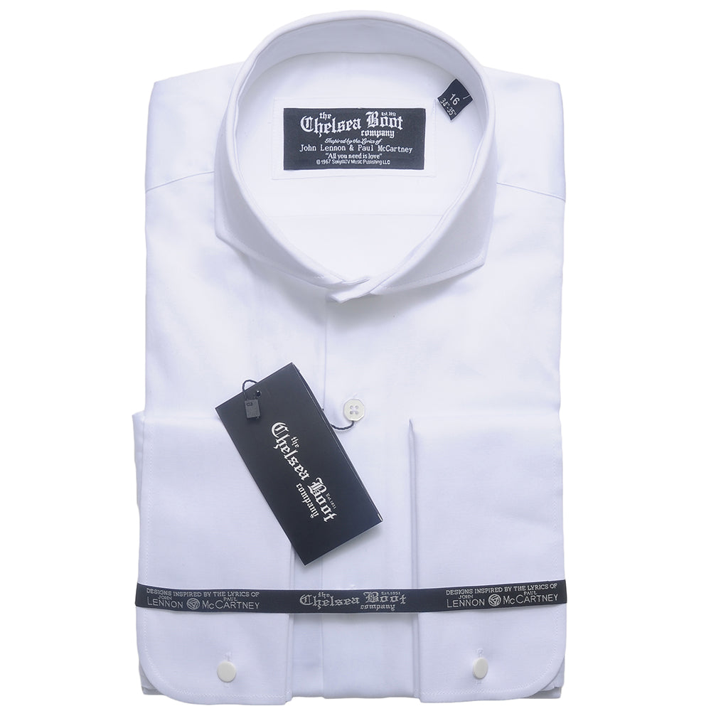 Cutaway Collar White Shirt