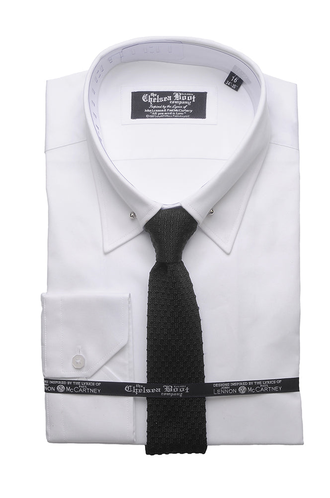 Pin Collar White Shirt