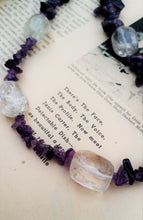 Amethyst chip and clear Quartz beaded necklace