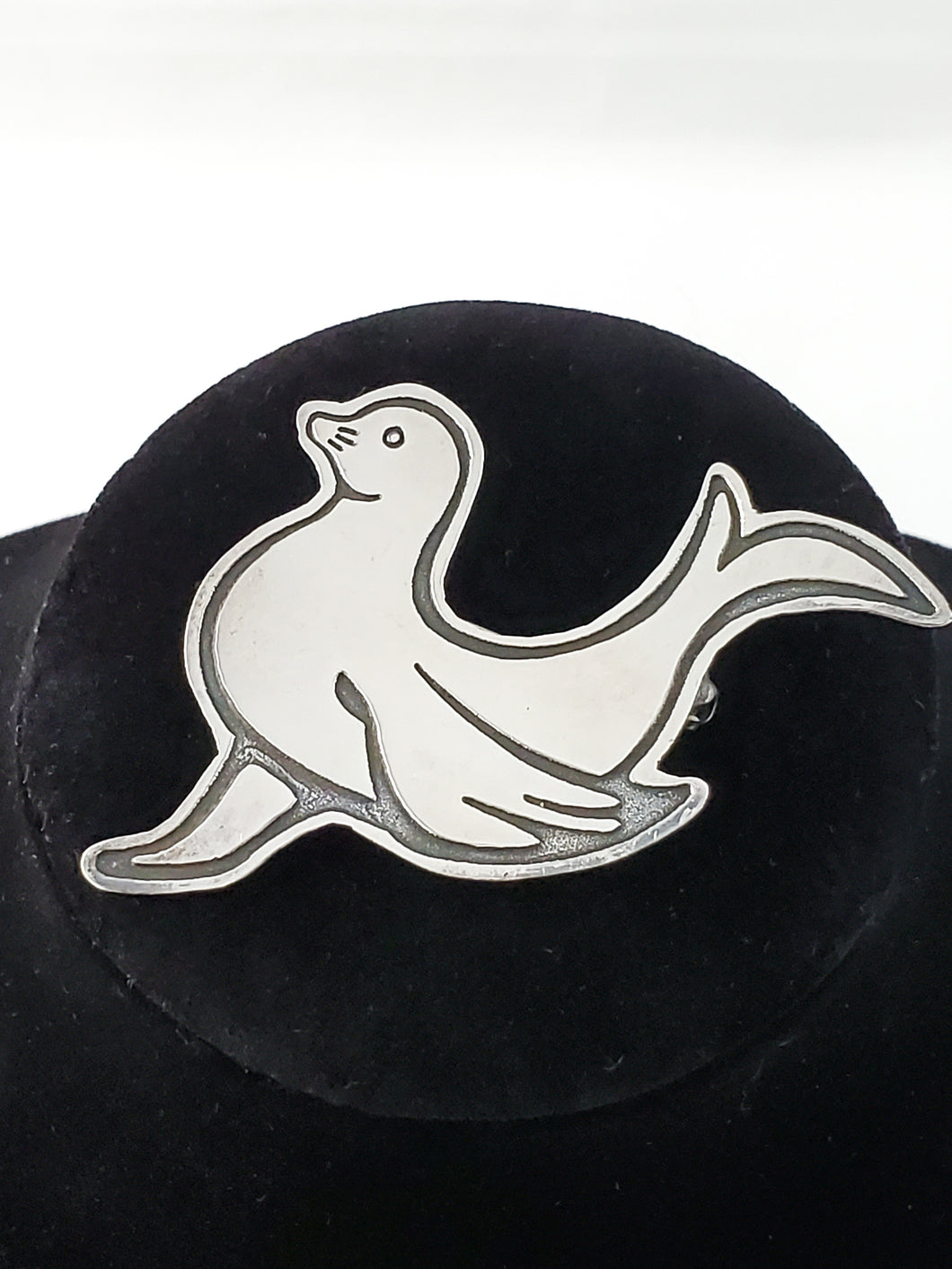 FAS Seal Stamped Sterling silver vintage Mexico brooch pin 925