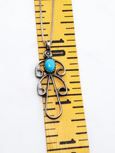 Navajo turquoise sterling silver Native American turquoise bird pendant necklace 925