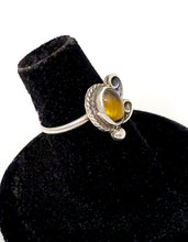 Tiger's Eye NA Native American Navajo style artisan sterling silver ring size 5