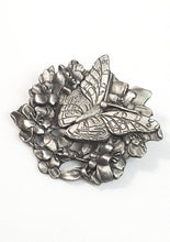Vintage Birds and Blooms butterfly in flowers brooch pin 1998