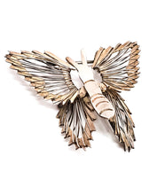 Mexican Butterfly sterling silver wire vintage brooch 925 Mecico