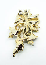 Gerry's Christmas bells and holly vintage enamel painted holiday brooch pin