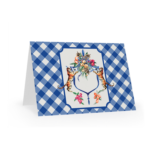 Folded Notecards, Bengal Bells, Set of 15 - GinnyMoon