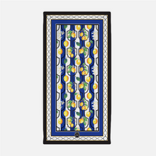 Beach Towel in Blue Sunny Lemon - GinnyMoon