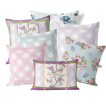 Pillow Cover in Blue Hamlet Chintz - GinnyMoon