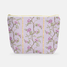 Cosmetic Bag, Large T-Bottom Climbing Peony - GinnyMoon