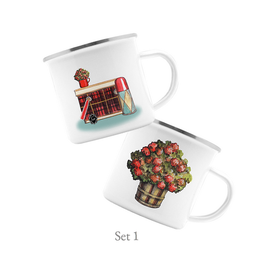 Campfire Mug Set of Two, Vintage Tailgate - GinnyMoon