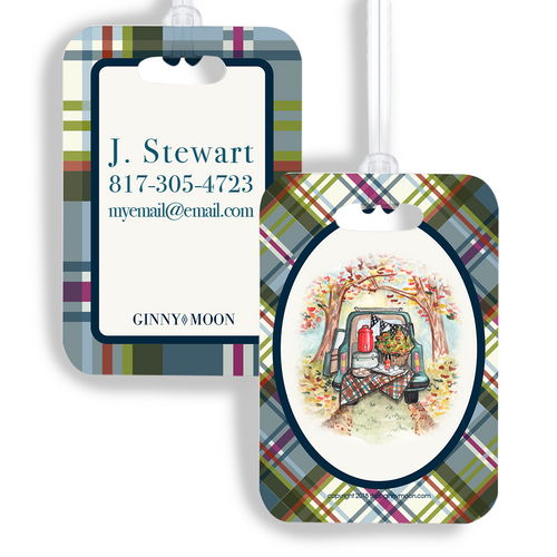 Luggage Tag, Plaid Vintage Tailgate - GinnyMoon