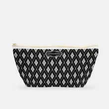 Cosmetic Bag, Small T-bottom in Gameday Signature Diamond - GinnyMoon
