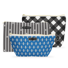 Cosmetic Bag Set, Gameday Gingham - GinnyMoon