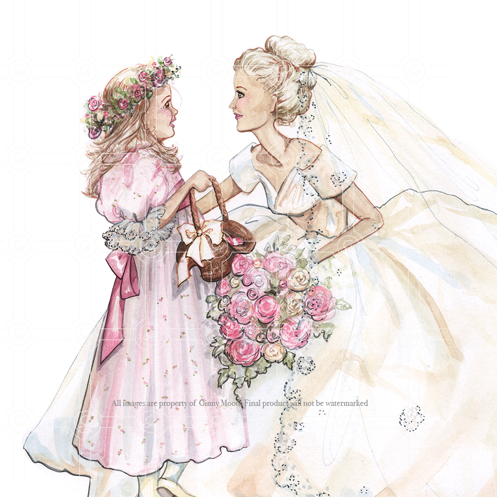 Giclee Fine Art Print, The Wedding Day, Multiple Sizes - GinnyMoon