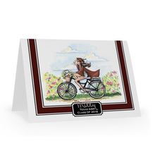 Going Places Personalized Graduation Notecards, Choose Skin, Hair and School Colors - GinnyMoon