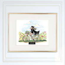 Going Places Personalized Graduation Art Print, Choose Skin, hair and School Color - GinnyMoon