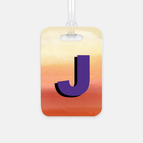 Day In The Sun Initial Luggage Tag - GinnyMoon