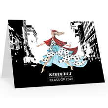 Look Out World Personalized Graduation Notecards, Choose Skin, Hair and School Colors - GinnyMoon