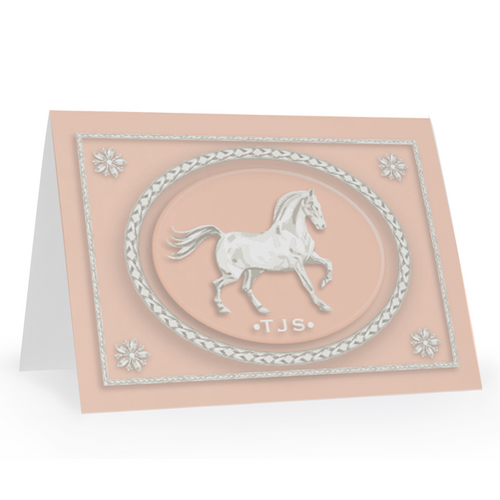 Jasper Horse Folded Notecards, Personalized Set of 15