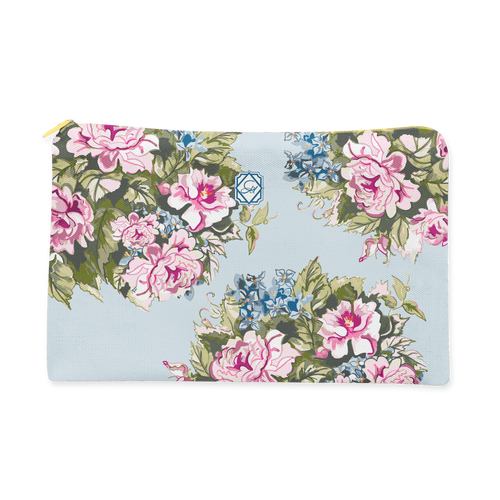 Cosmetic Bag, Large Blue Hamlet Chintz - GinnyMoon