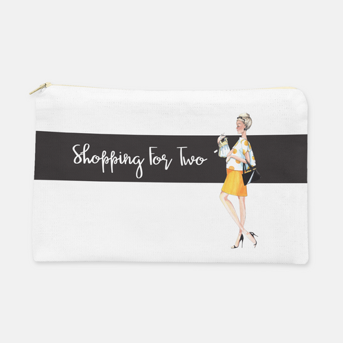 Shopping for Two Cosmetic Bag, Large Flat - GinnyMoon