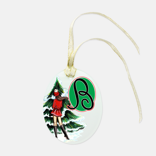 Personalized Wrapped-And-Ready Ornament, Christmas Scheming - GinnyMoon