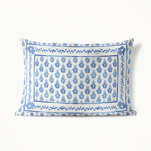 Indoor Outdoor Pillow, Blue Prairie Point Ditzy - GinnyMoon
