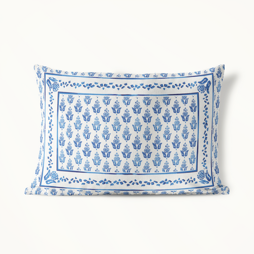 Indoor-Outdoor Pillow, Blue Prairie Point Ditzy - GinnyMoon