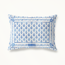 Throw Pillow, Blue Prairie Point Ditzy - GinnyMoon