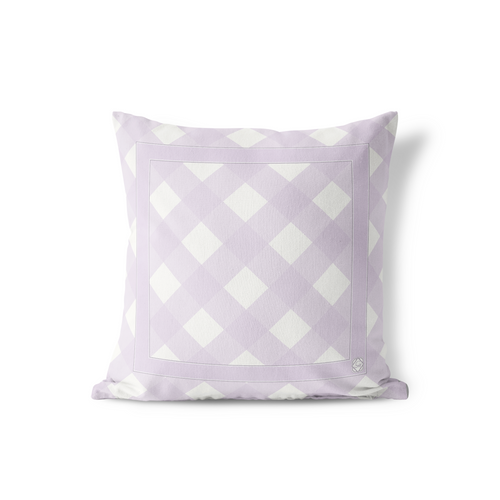 Pillow in Soft Lavender Everyday Gingham - GinnyMoon
