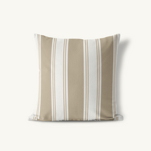 Indoor-Outdoor Pillow, Singleton Stripe Classic Neutrals - GinnyMoon