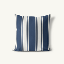Indoor Outdoor Pillow, Singleton Stripe Classic Neutrals - GinnyMoon