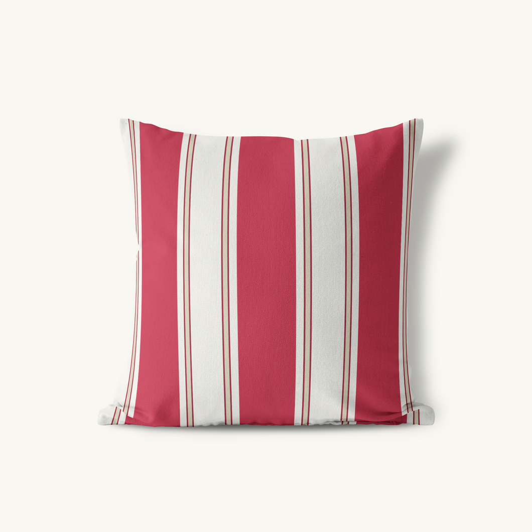 Throw Pillow, Singleton Stripe Classic Neutrals - GinnyMoon