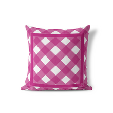 Indoor Outdoor Pillows-June Garden Gingham - GinnyMoon