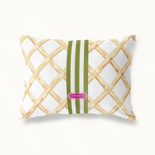 Indoor Outdoor Pillow-Bamboo Lattice Lumbar - GinnyMoon
