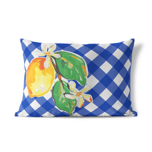 Indoor Outdoor Pillow-Sunny Lemon Lumbar - GinnyMoon
