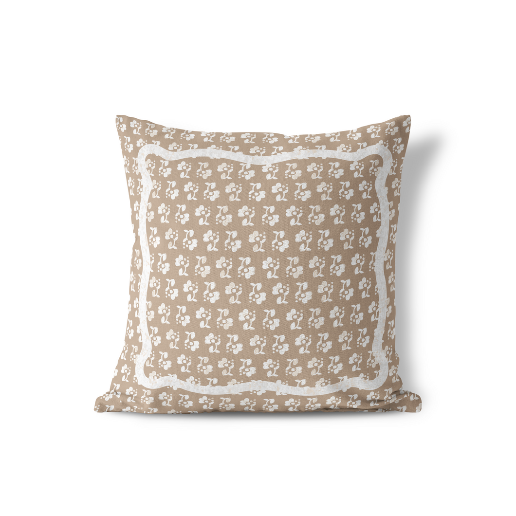 Pillow Cover, Block Print, Multiple Colors - GinnyMoon