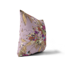 Pillow Cover, Soft Plum Rustling Palm Floral - GinnyMoon