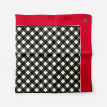 Oversize Satin Scarf in Red Classic Gingham - GinnyMoon