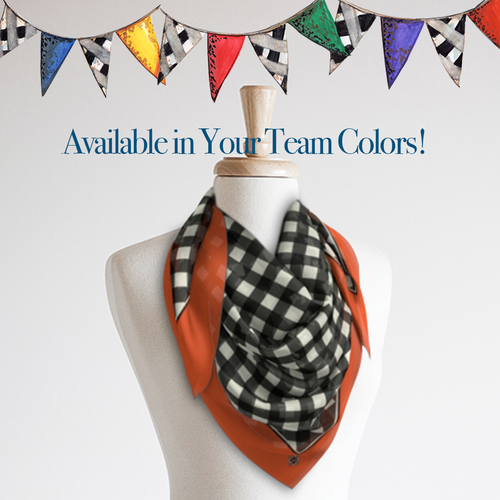 Oversize Scarf, Gameday Gingham - GinnyMoon