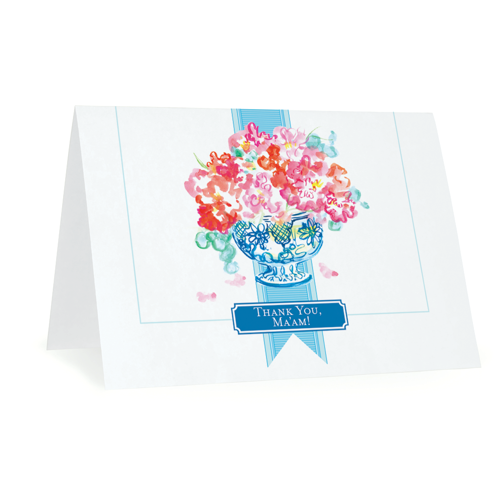 Folded Notecards, Thank You Ma'am, Set of 15 - GinnyMoon