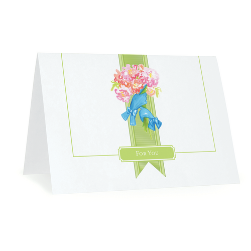 Folded Notecards, For You Flowers, Set of 15 - GinnyMoon