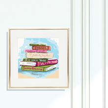 Giclee Fine Art Print, Summer Reading List - GinnyMoon