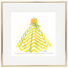 Giclee Fine Art Print, Sunny Yellow Stripes - GinnyMoon