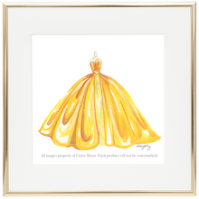 Giclee Fine Art Print, Sunny Yellow Ballgown - GinnyMoon