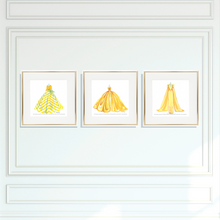 Giclee Trio, Sunny Yellow Dresses, Choice of Sizes - GinnyMoon