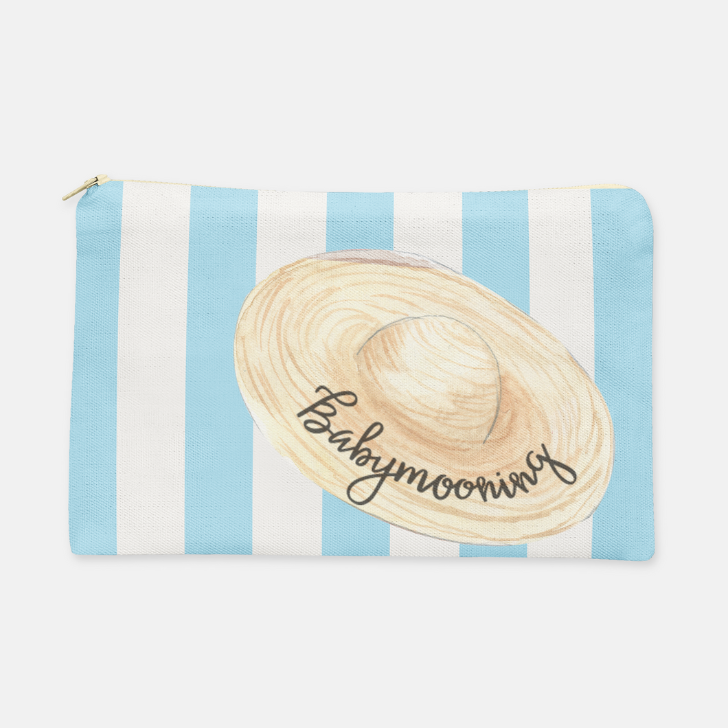 Babymoon Cosmetic Bag, Large Flat, Choice of Colors - GinnyMoon