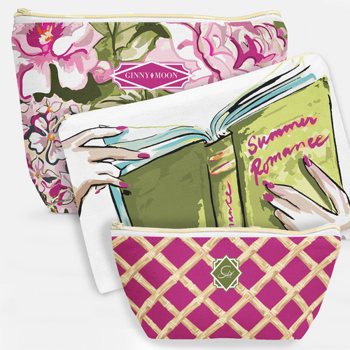 Cosmetic Bag 3 Piece Set- June Garden - GinnyMoon
