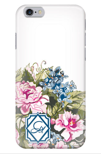 Phone Case for iPhone- White Chintz Bouquet - GinnyMoon