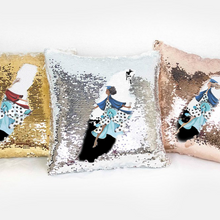 Look Out World Custom Pillow Cover, Reversible Mermaid Sequins - GinnyMoon